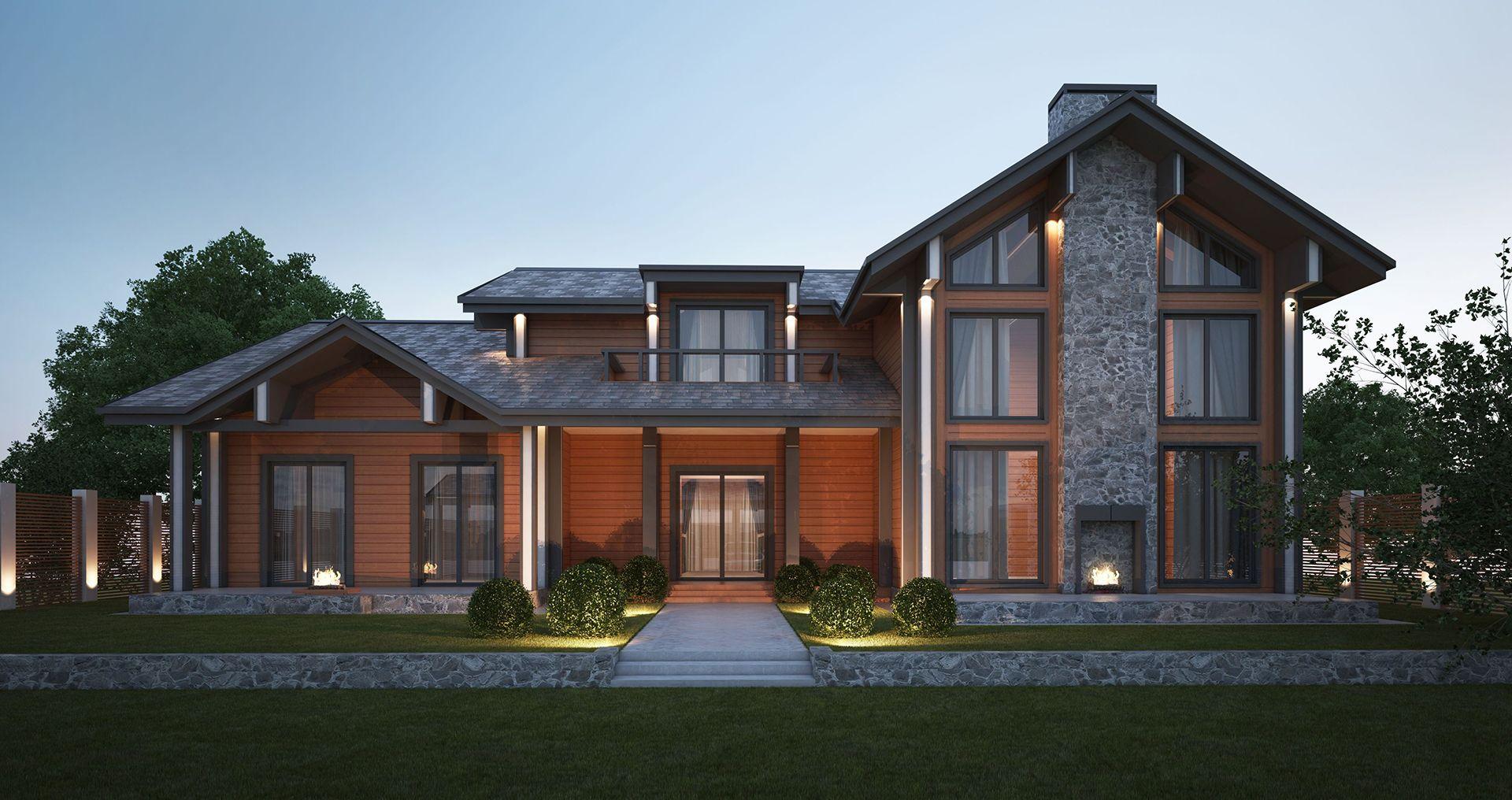 Дизайн проект гостевого дома стиль шале